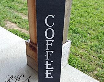 Coffee sign, wood coffee sign, rustic coffee sign, coffee shop sign, coffee house sign, coffee decor, coffee gift, coffee gifts