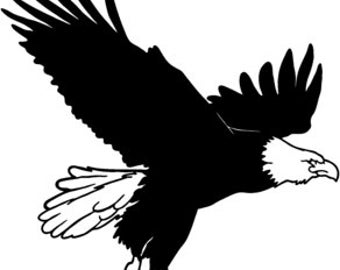 Eagle Soaring Vinyl Decal Sticker 22 color options