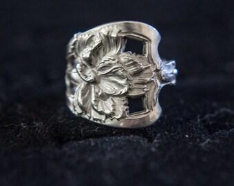 Filigree Flower Sterling Silver Ring