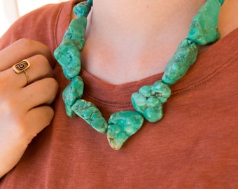 Turquoise Magnesite Necklace - Handmade One-Of-A-Kind