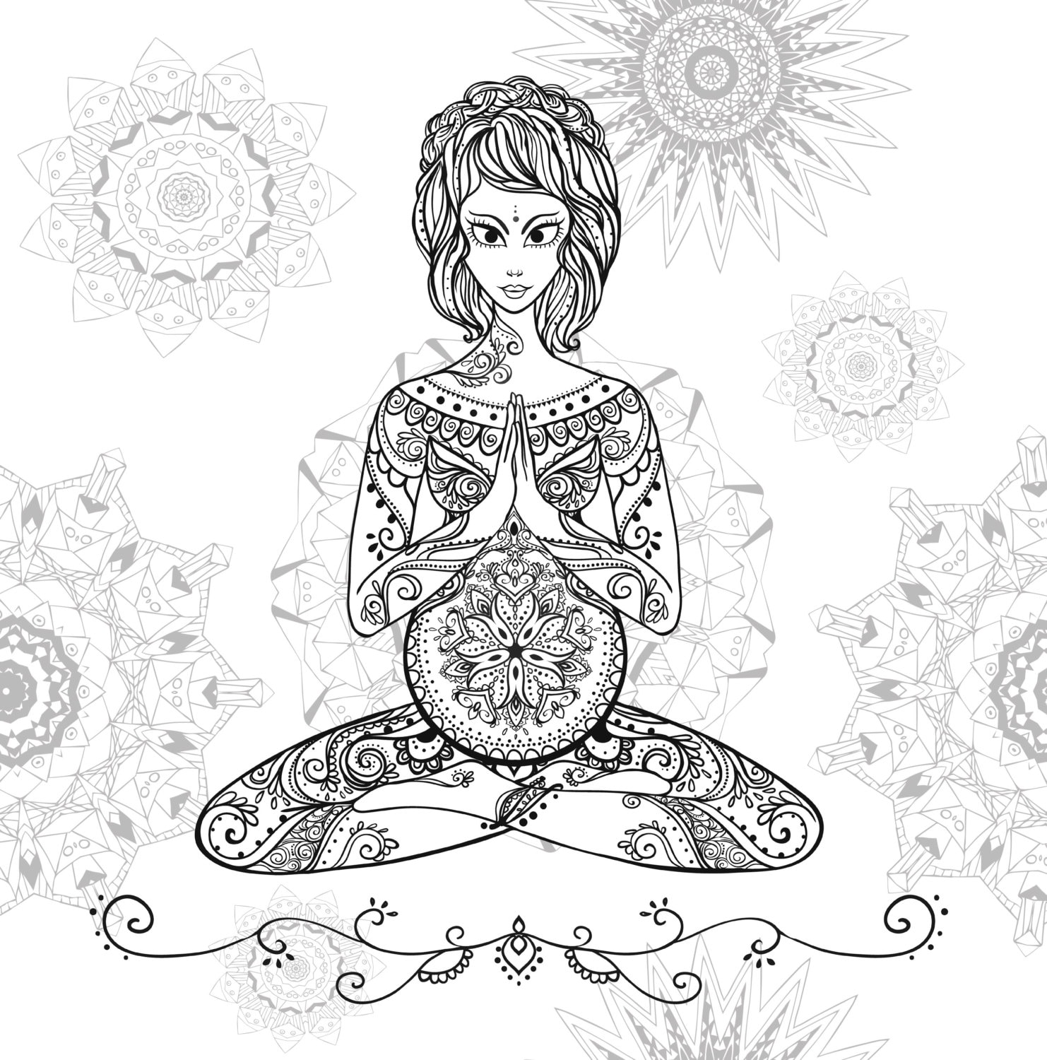 Coloring pages relaxing -  Zoom