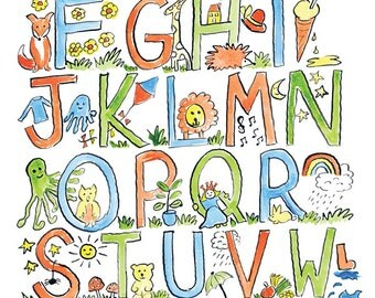 Alphabet print children's nursery