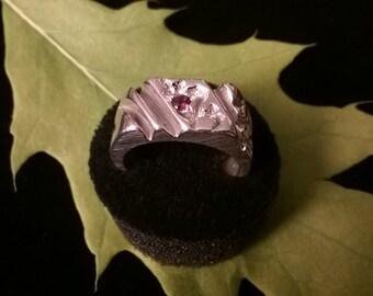 Custom Handmade Silver Nugget Ring