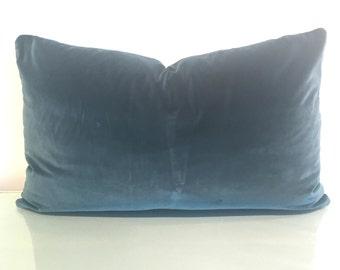 "26"".5 x 15"" Decorative Lumbar Pillow Cover in Zoffany Velvet Fabric"