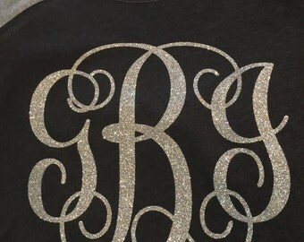 Silver on Black/Gray Monogram