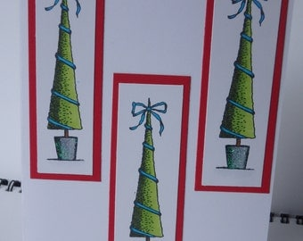 Set of 3 Christmans Tree Cards
