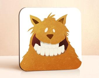 Say Cheese Coaster | Cat Coaster | Kids Coaster | Cute Coaster | Gift for Him | Gift for Her | Gift For Kids | Wood Coaster | Drink Coaster