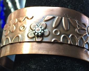 Copper Antiqued Cuff, Foldformed
