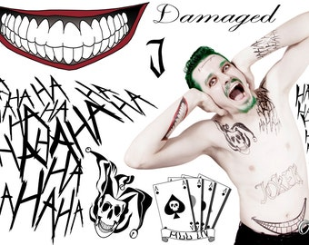Suicide Squad - Joker Temporary Tattoo by Otaku Ink