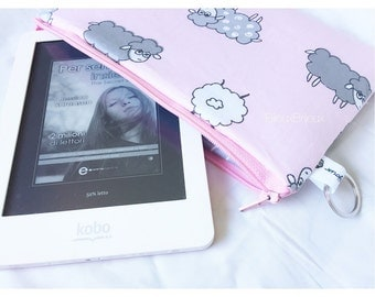 Tablet and ereader sheep and clouds