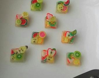 Fruits jelly studs  earrings.