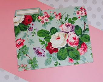 Anna Griffin Amelie Floral Collection - 12 File Folders