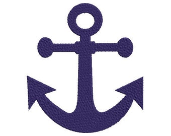 Anchor Embroidery Design Instant Download