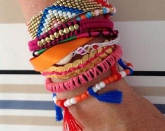 Bracelet brésilien typique du brésil or neuf