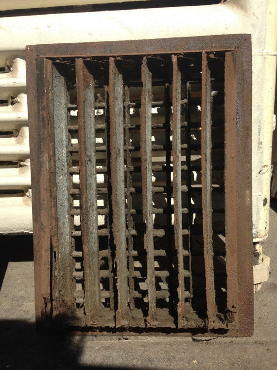 Vintage Metal Wall Heating Vent Grate Architectural