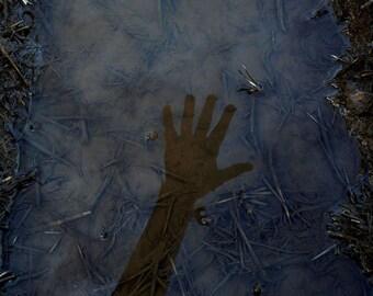 Prehistoric Liminality - Print - Fine Art Photography - hand - reflection - water