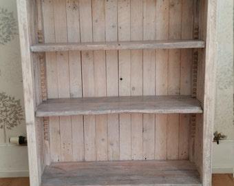 Handmade Unique Rustic Reclaimed Wood Bookcase