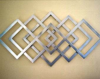 Geometric metal wall art