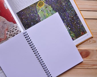 Notebook/sketchbook with white paper Day in Night