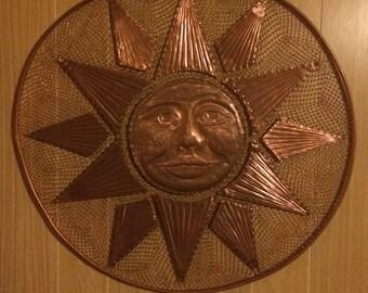 Hand tooled Copper Sunburst