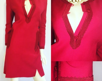 Oscar De La Renta Vintage Red Dress Size 8