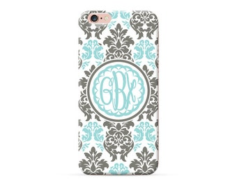 iPhone 6 plus Case monogram iPhone 6 Case custom iPhone 7 case iphone 6s Plus Case iphone SE case iphone 5s 5c 5 4s 4 floral with initials