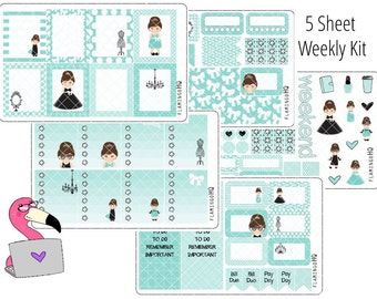 Glam Girls - Weekly Full Kit Planner Stickers