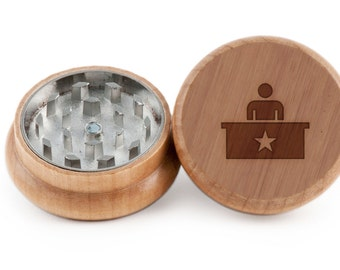 The Office Herb Grinder, Wood Grinder, Spice Grinder, Personalizable and Customizable Gift, Groomsmen Gift