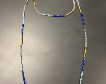 The Grace Necklace- baby blue and dark blue