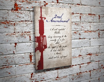 2nd Amendment Canvas Print Wall Art