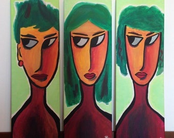 Modern contemporary art, original art, acrylic, large painting, wall art, stretched canvas