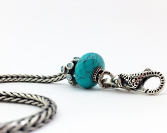 Turqouise - syntetic gemstone beads fits trollbeads bracelet