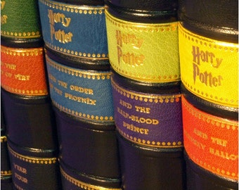 The Harry Potter in Half-Leather Bindings