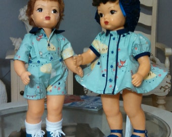 "Terri Lee doll clothes ""Enchanted"" outfits in Aqua"