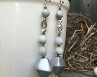 Viosa:   Upcycled, Lightweight, Dangle Earrings for Very Sensitive Ears by April Lily & Co.