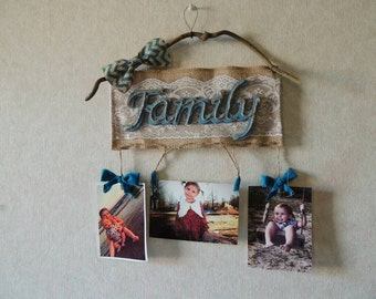 """Burlap wall hanging 12"""" inches wide"""