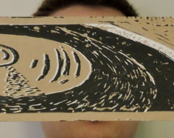 Record Player- Linocut