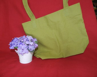 Green Canvas Tote