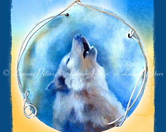 """Howling Wolf 5.5"""" x 8.5"""" Archival Print"""