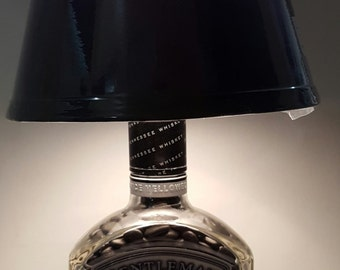 Gentleman Jack bottle lamp with lamp shade