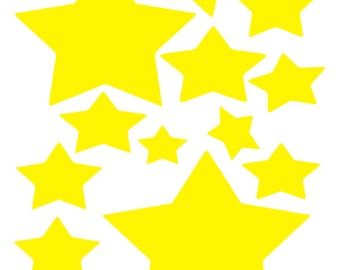 12 Vinyl Stars | decals | stickers
