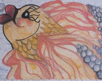 "Pastel Chalk Drawing ""Trudy"""