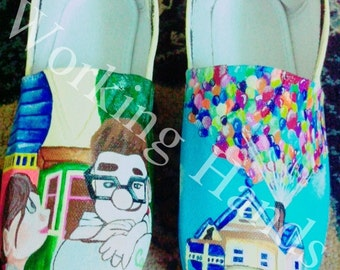 Hand painted canvas shoes - Baloons