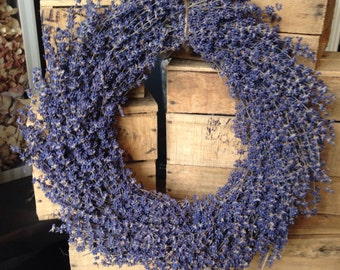 Large Dried Lavender Wall Hanging Wedding Decor Wreath Autumn Fall Seasonal