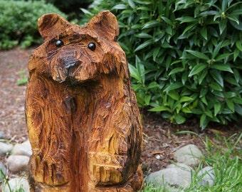 Bear Chainsaw Wood Sculpture - Custom