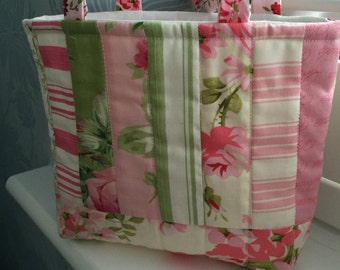 Pretty quilted mini bag, gift or favour bag