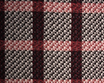 Classic Check Pattern  | Boucle Wool Designer Fabric