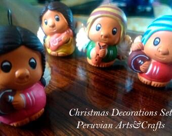 Peruvian Musicians Dolls Christmas Tree Decorations