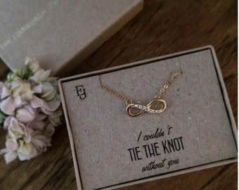 Gold Plated 'Infinity Knot' Neckalce