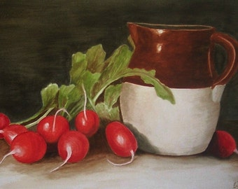 Radishes and Old Pitcher